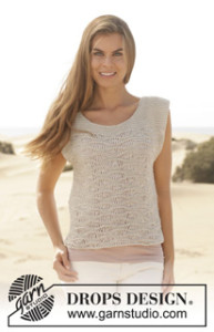 DROPS Sommer 2014 Top Bomull Lin